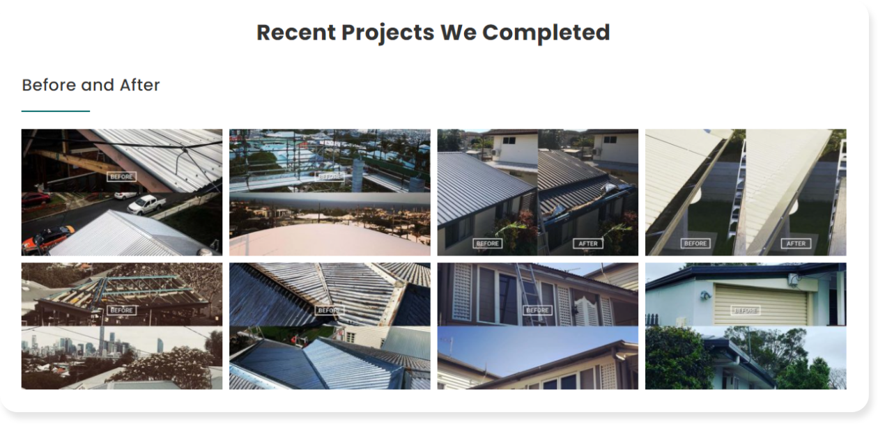 Roofing project galleries