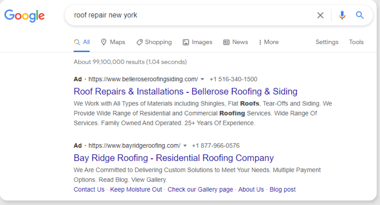 What are roofing seo